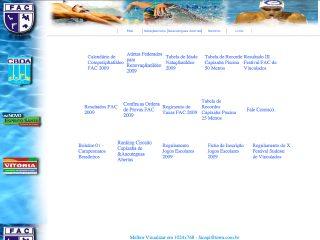 Thumbnail do site Federação Aquática Capixaba