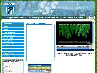 Thumbnail do site Federação de Futebol Sete do Espírito Santo. ( F.F.S.E.S.)