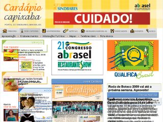 Thumbnail do site SINDBARES - Sindicato dos Bares, Restaurantes e Similares do ES