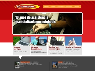 Thumbnail do site Só-Notebook
