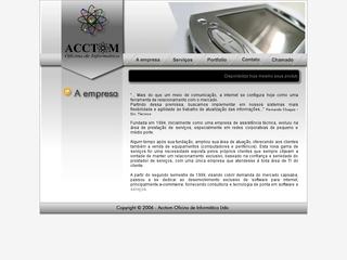 Thumbnail do site Acctom Oficina de Informática Ltda