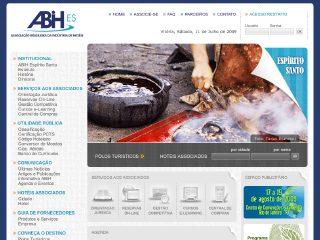 Thumbnail do site ABIH Associação Brasileira da Industria de Hotéis