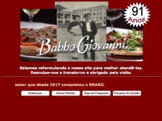 Thumbnail do site Babbo Giovanni Pizzaria