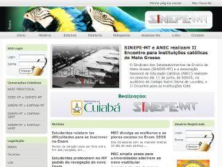 Thumbnail do site SINEPE-MT - Sindicato dos Estabelecimentos de Ensino do Estado de Mato Grosso