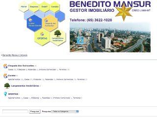 Thumbnail do site Benedito Mansur Gestor Imobiliario