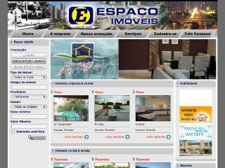 Thumbnail do site Espaço Imobiliária