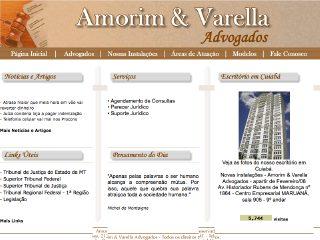 Thumbnail do site Amorim & Varella Advogados