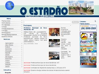 Thumbnail do site O Estadão Matogrossense On-line