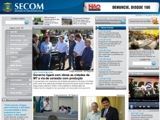 Thumbnail do site Secretaria de Estado de Comunicação Social - SECOM/MT