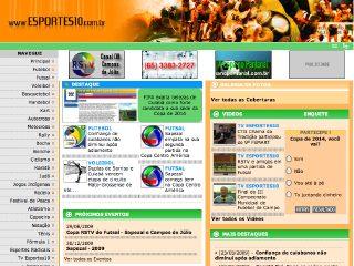 Thumbnail do site Esportes10.com.br