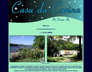 Thumbnail do site Casa da Corina