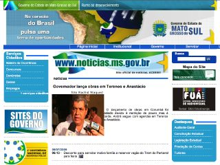 Thumbnail do site Governo do Estado do Mato Grosso do Sul