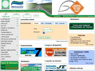 Thumbnail do site DETRAN - Mato Grosso do Sul