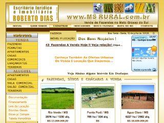 Thumbnail do site MS Rural - Fazendas a Venda no MS Mato Grosso do Sul