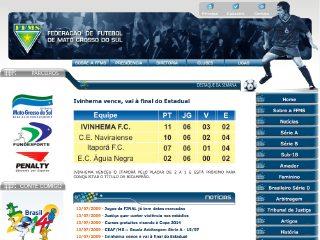 Thumbnail do site Federação de Futebol de Mato Grosso do Sul
