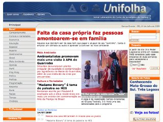 Thumbnail do site Unifolha On-line