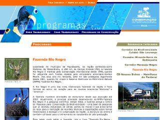 Thumbnail do site Fazenda Rio Negro
