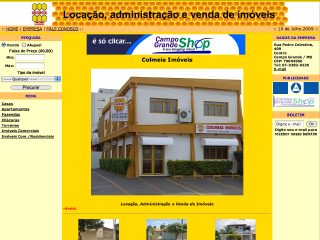 Thumbnail do site Colméia Imóveis