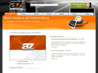 Thumbnail do site AZ Informática
