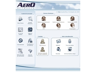 Thumbnail do site Aero Networks