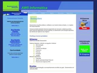 Thumbnail do site AW5 Informática