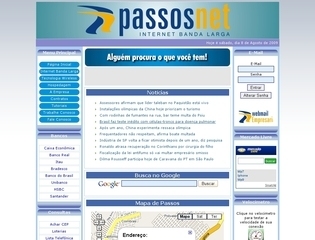 Thumbnail do site PassosNet - Internet Banda Larga