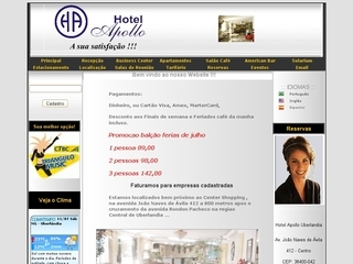 Thumbnail do site Hotel Apollo Ltda