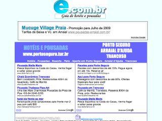 Thumbnail do site Hoteis e pousadas em Porto Seguro