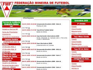 Thumbnail do site FMF - Federação Mineira de Futebol