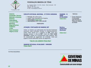 Thumbnail do site FMT - Federação Mineira de Tênis