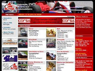 Thumbnail do site FMA - Federação Mineira de Automobilismo
