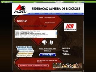 Thumbnail do site FMBX - Federação Mineira de Bicicross