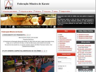 Thumbnail do site FMK - Federação Mineira de Karate