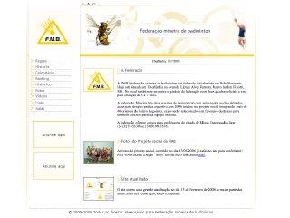 Thumbnail do site FMB - Federação Mineira de Badminton