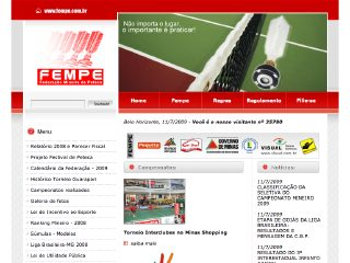 Thumbnail do site FEMPE - Federação Mineira de Peteca