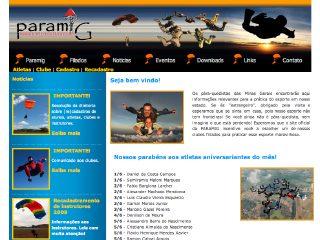 Thumbnail do site PARAMIG - Federação Mineira de Pára-quedismo