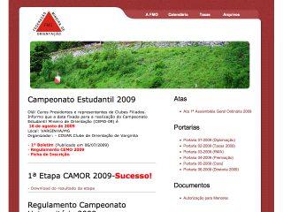 Thumbnail do site FMO - Federação Mineira de Orientação
