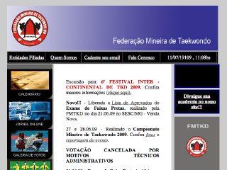 Thumbnail do site FMTKD - Federação Mineira de Taekwondo