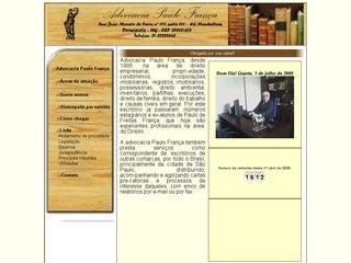 Thumbnail do site Advocacia Paulo França