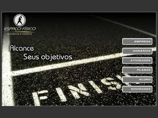 Thumbnail do site Academia e estética Espaço Físico