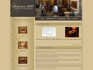 Thumbnail do site Relicário 1800 - Galeria de Arte e Restaurante típico