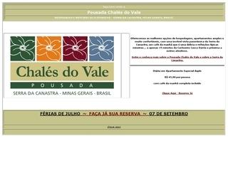 Thumbnail do site Pousada Chalés do Vale
