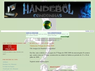 Thumbnail do site Handebol Congonhas