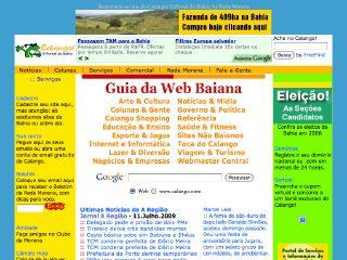 Thumbnail do site Calango! O Portal da Bahia, Brasil