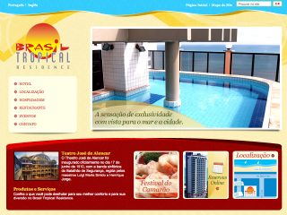 Thumbnail do site Brasil Tropical Residence