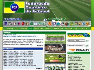 Thumbnail do site FCF - Federação Cearense de Futebol
