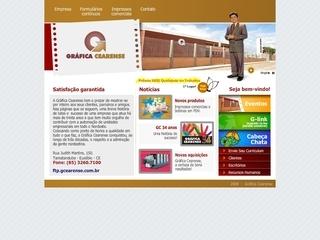Thumbnail do site Gráfica Cearense