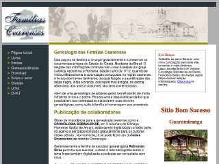 Thumbnail do site Genealogia das Famílias Cearenses