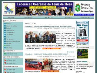 Thumbnail do site FCTM - Federação Cearense de Tênis de Mesa