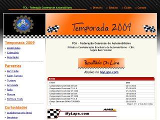 Thumbnail do site FCA - Federação Cearense de Automobilismo